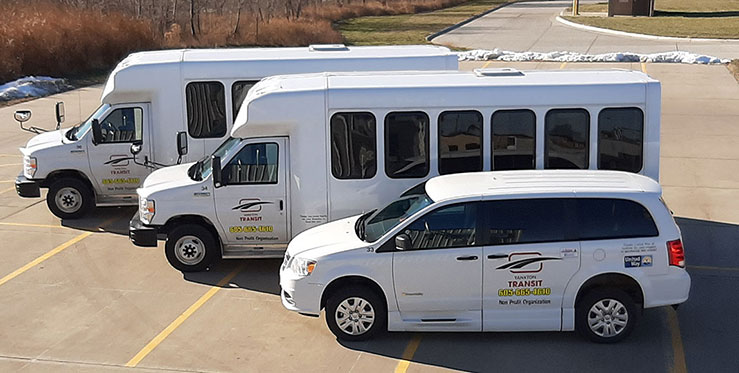 Yankton Transit Buses and Van
